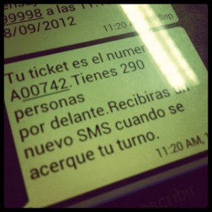 Ticket SMS. Sincola